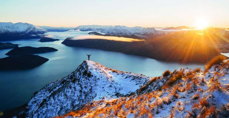 Winter Sunrise over Lake Wanaka seen from Roys Peak copy copy